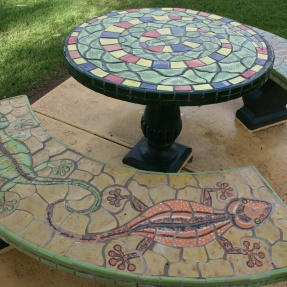 7. Mosaic table and benches, Payneham Community Centre