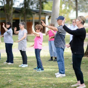 Dunstone Grove, Stepney - Tai Chi in the park