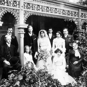 Family wedding, Moulden family, 1880s