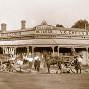 V O Cheek Butchers, 1890s