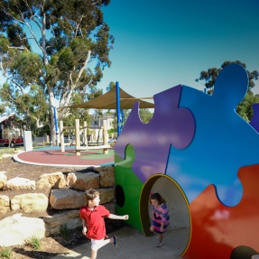 Payneham Oval Playground - tunnel fun