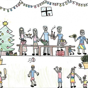 Mayor's Christmas Card Competition - 1st Place, Year 5