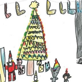Mayor's Christmas Card Competition - 3rd Place, Year 1