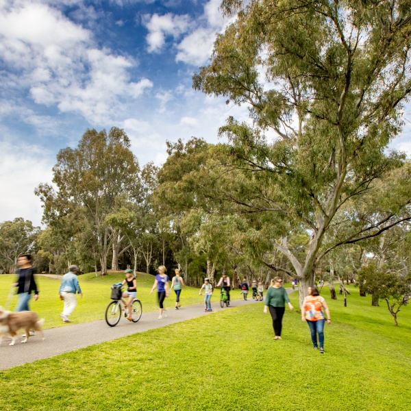 Walk, run or cycle the upgraded River Torrens Linear Park Path