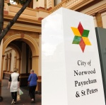 NPSP sign with logo outside the Norwood Town Hall